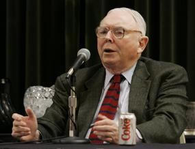 Berkshire Hathaway vice-chairman Charlie Munger speaks Sunday, May 7, 2006, during a news conference in Omaha, Neb, after the annual Berkshire Hathaway shareholders meeting. (AP)