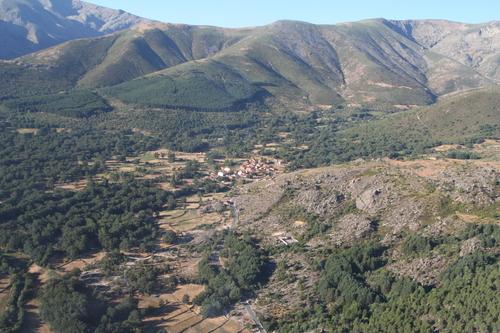 Vista aérea de Navalguijo