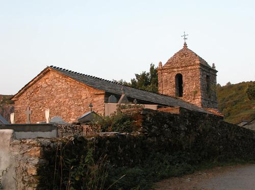 CAMINO DE SANTIAGO (2005). LIÑARES (Lugo). Iglesia de San Estevo.