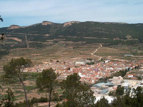 El Pueblo de Higueruelas desde el pinar
