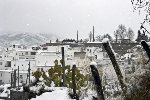 Laujar de andarax, fuerte nevada