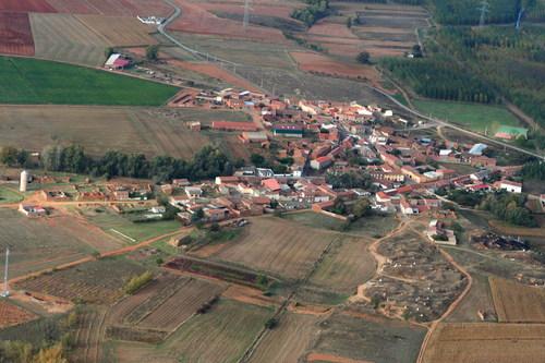 Vista aérea de Ribera de Grajal o de la Polvorosa