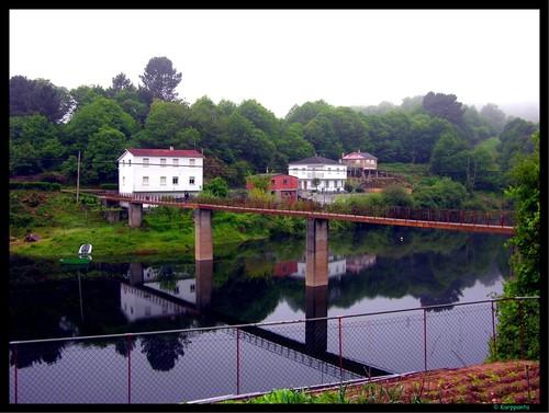 Saliendo de Portomarín - Camino de Santiago
