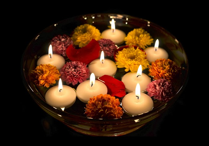 Diwali Floating Candle Pics