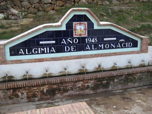 Fuente en Algimia de Almonacid