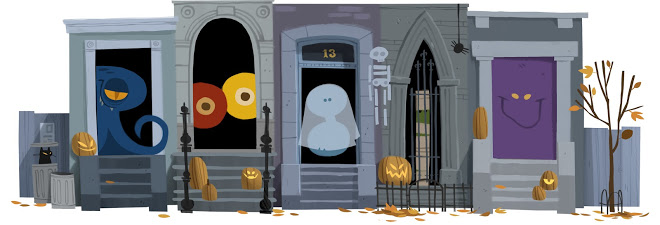 google doodles list on halloween