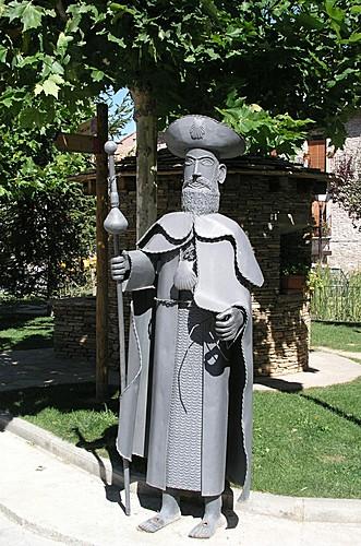 Estatua de Santiago en Santa Cilia de Jaca