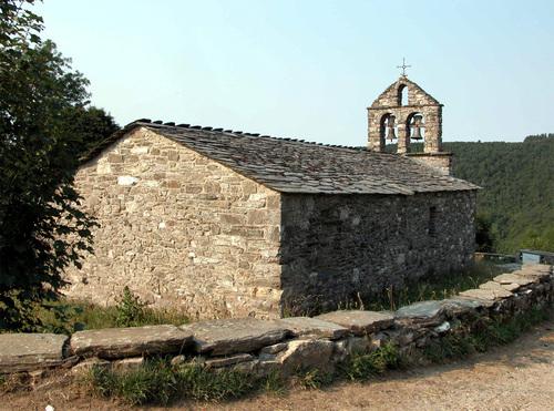 CAMINO DE SANTIAGO (2005). FONFRÍA (Lugo). Iglesia de San Xoán (sXII).