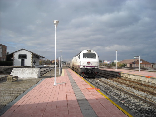 Tren talgo dirección Madrid. Noviembre de 2008
