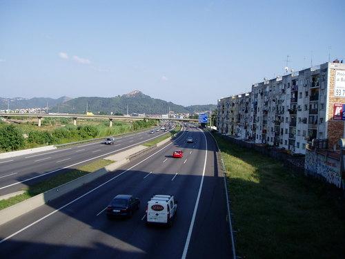 Autopista C-58 al seu pas per Ripollet