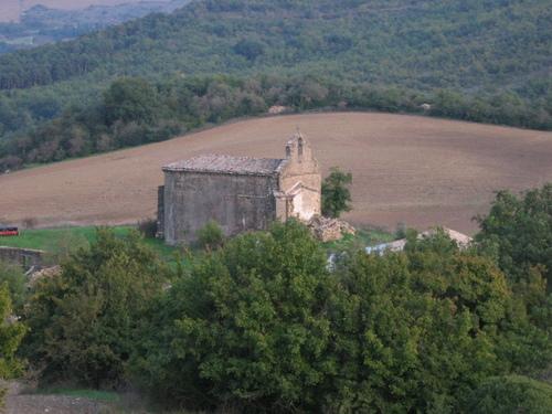 Iglesia desde el roble