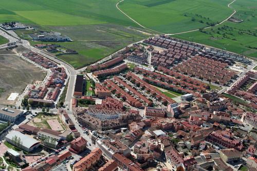 Vista aérea de varias urbanizaciones en Zaratán