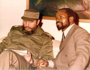 Fidel Castro with Samora Machel