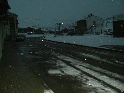 Nevando en Larués