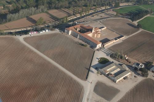 Vista aérea de la Abadia Retuerta, en el término de Sardón de Duero