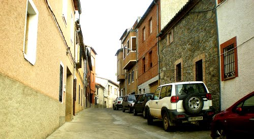 Calle de José Ortiz Echague, Lagartera, Castilla La Mancha, Espana, 02-01-2009.