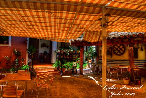Terraza en la Casa del Tío Venancio (Caracenilla, Spain)