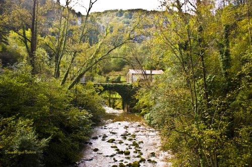 Puente  en el rio Miera