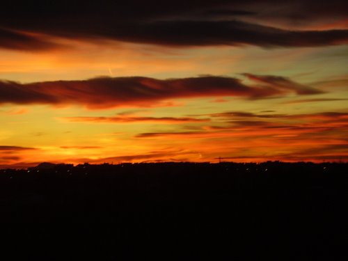 Sunset in the Alicante Airport, Spain. No Photoshop.
