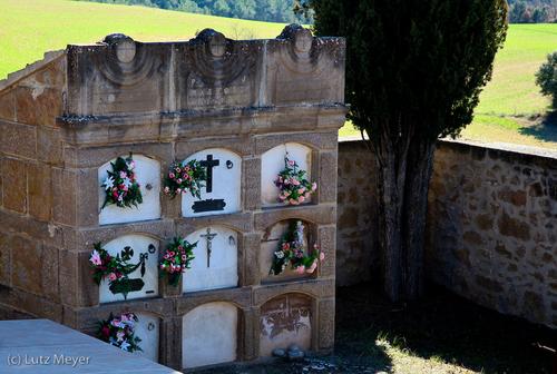 Cementiri at Castellar de la Ribera, Solsones, Catalunya, Spain