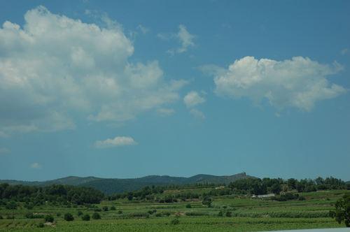 Autopista del Mediterrani AP-7 view north-west