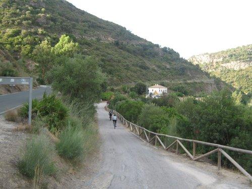 Entrada a Estación de Coripe, inicio Via Verde.