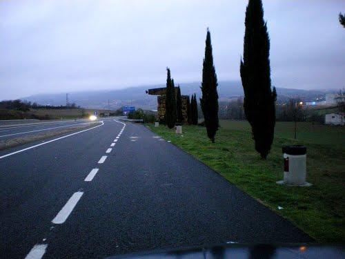 A12, Villateurta, near Estella , Navarra, Espana, 28-12-2008.