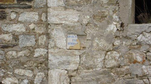Detalle cartel antiguo