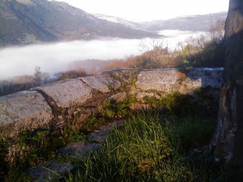Hotel Posada Aire de Ruesga? view over Valle in morning fog