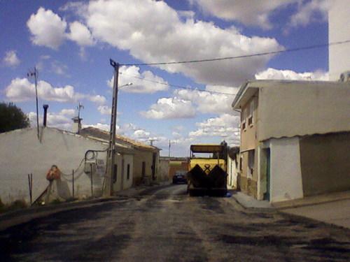 calle en obras