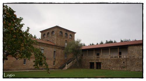 Vista Mosteiro benedictino de Santa María de Ferreira de Pantón