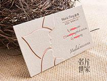 350克意大利羊毛纸高名片制作 凹凸烫金名片印刷 可开具发票