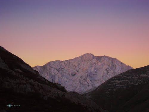 Cara Norte del Pico Espigüete. 6:00 h de la mañana