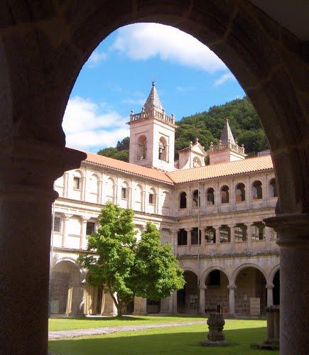 A *Parador*  Santo Estevo - a converted Benedictine Monastery;  - a wonderful scenery around is known as ?Ribeira Sacra?