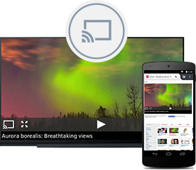 Send video content from Firefox for Android to any TV with supported streaming capabilities.