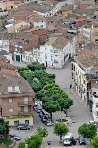 calle de la rambla, albelda (huesca)