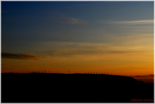 Sunset and Windmills in Malpica