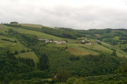 Vista de Anzás desde San Andrés, Tineo, Asturias