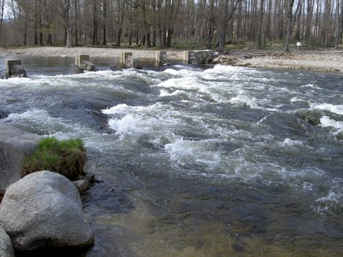 Rio Alberche a su paso por  Navaluenga Avila,(Estepa 32)