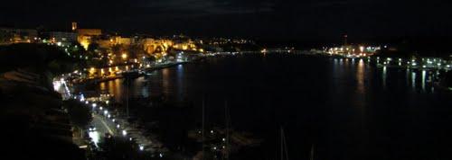 Port Mahon by night