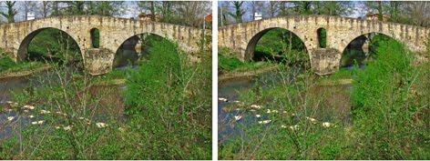 3D-Puente sobre el Rio Nora, Colloto, Oviedo. Principado de Asturias.