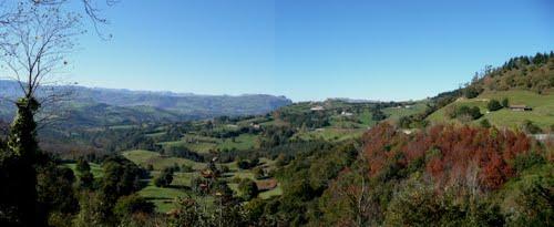 panorámica del valle de Carranza
