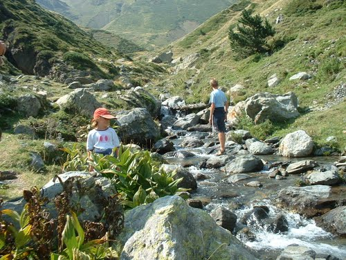 Our son and his youngest daughter ( a university student at the moment ) in Vall de Nuria, Spain