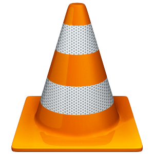 Lecteur de média grand Orange VLC Traffic Cone Logo
