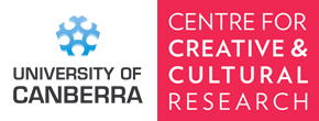 Logo for Centre for Creative and Cultural Research at the University of Canberra