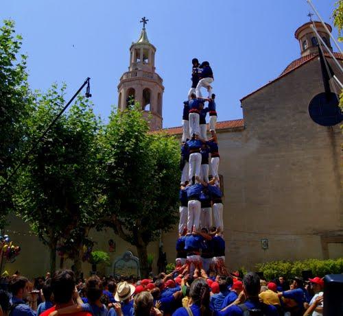 Diada castellera a Premià,Capgrossos de Mataró.