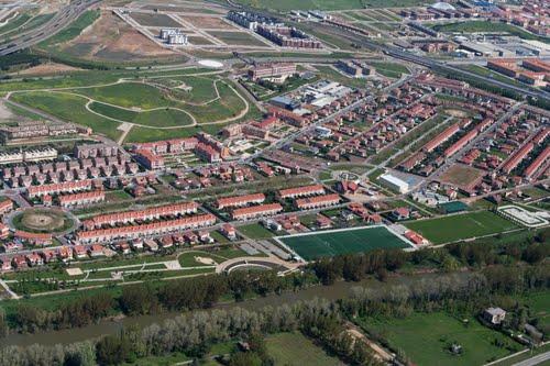 Vista aérea de la Urbanización La Vega