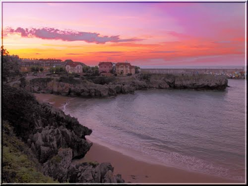 Sunset in Llanes