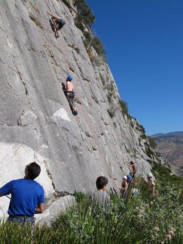 Climbing in the Valle de Abdalajís