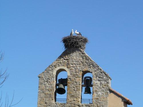 cigüeñas iglesia Villabúrbula